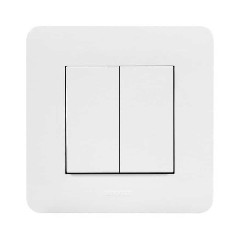 Accessoire pour luminaire interrupteur mural sans fil 2 boutons