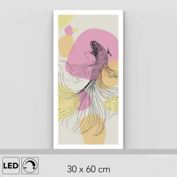 Lampe poisson chat verticale