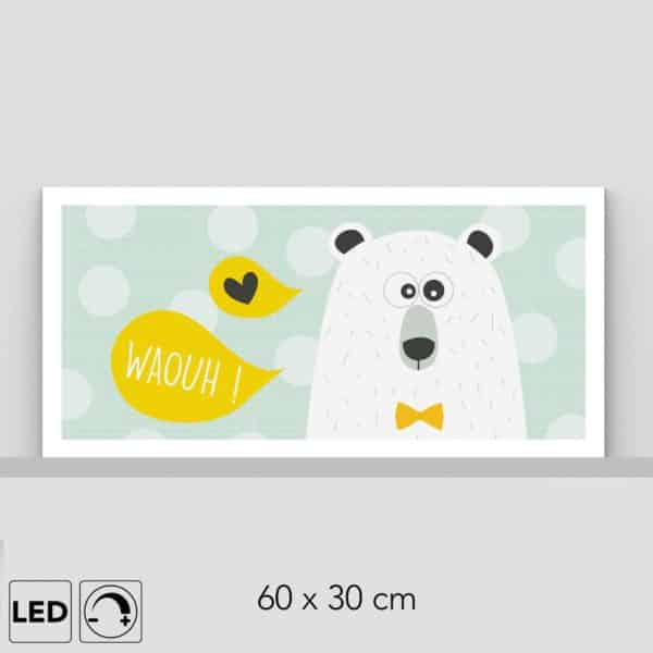 Lampe ours horizontale