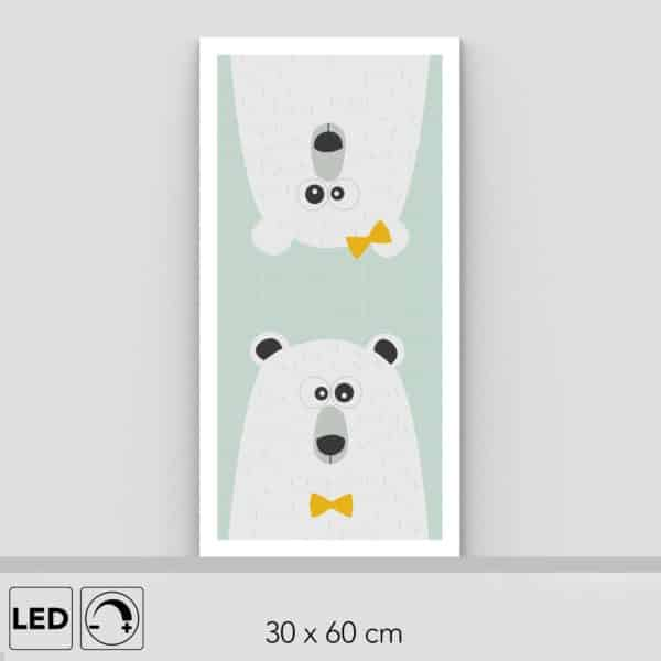 Lampe ours verticale