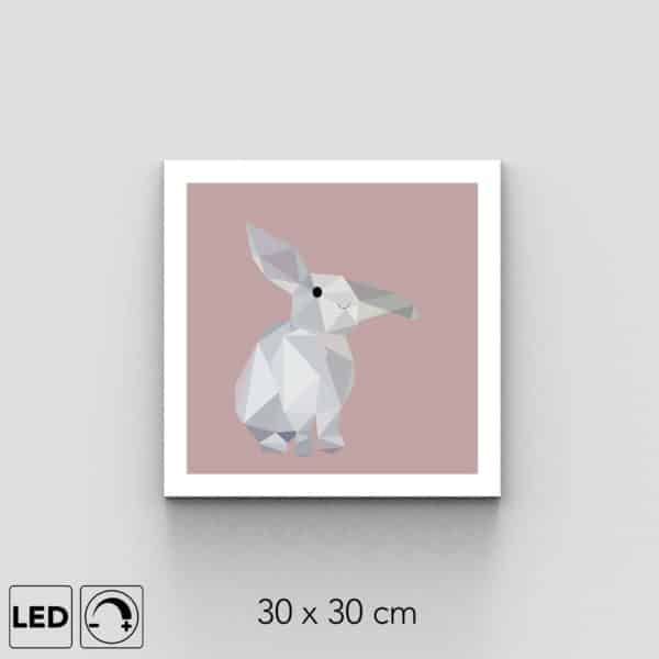 applique murale lapin rose