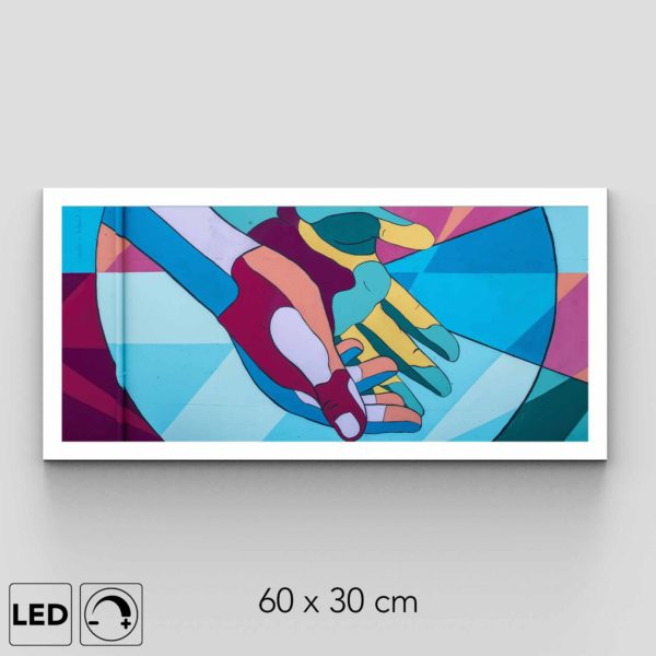 Applique murale mains horizontale