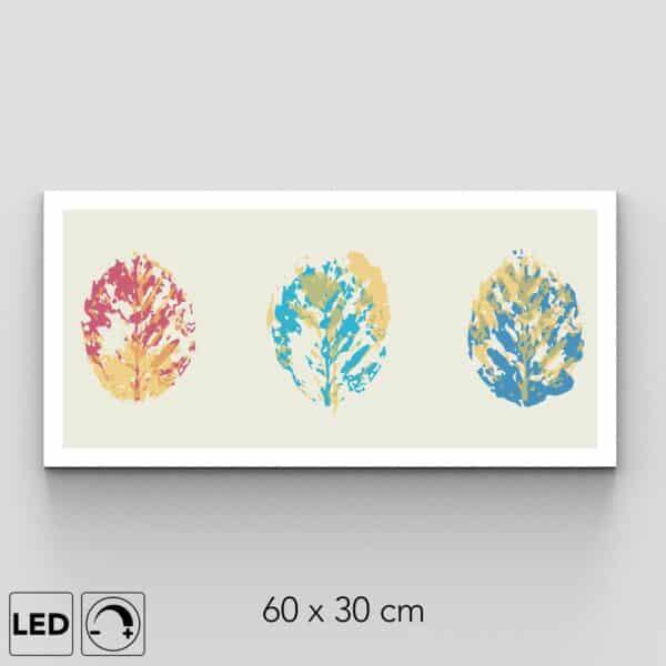 Applique murale 3 feuilles colorées
