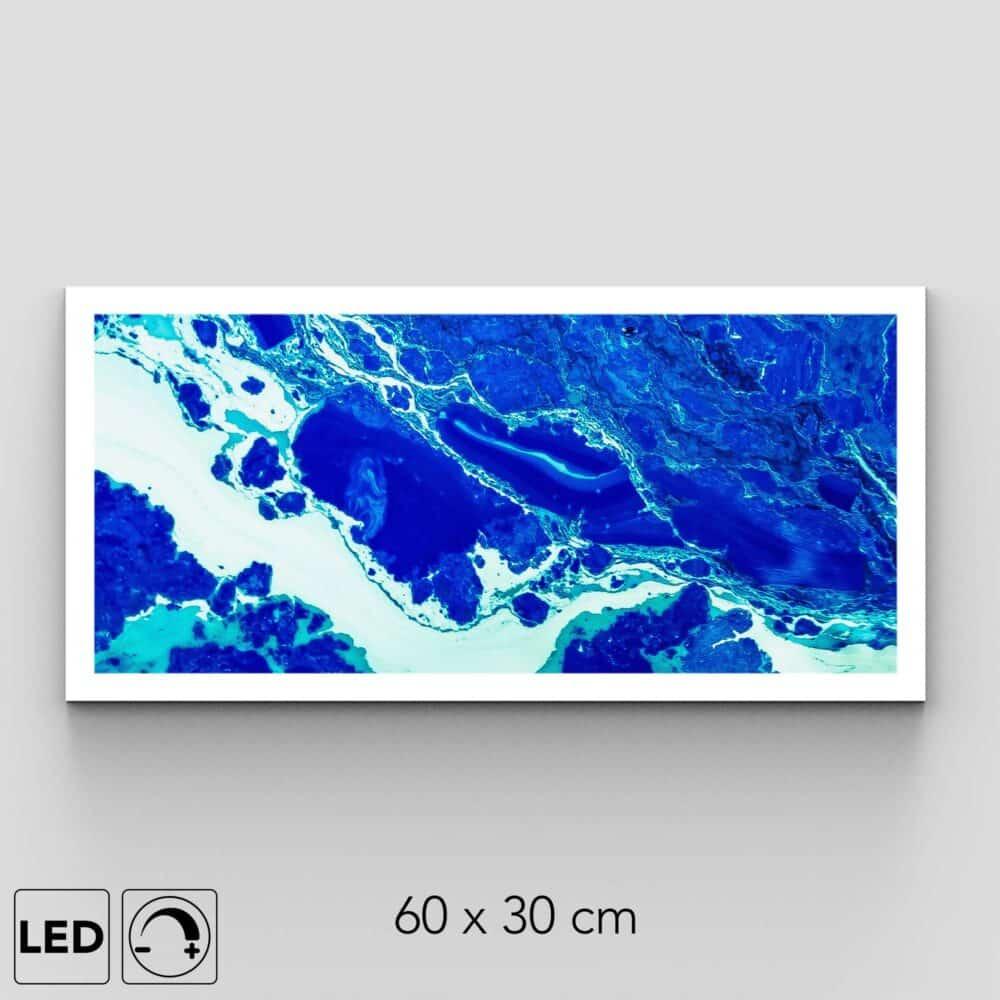 Plafonnier marbre bleu présentation