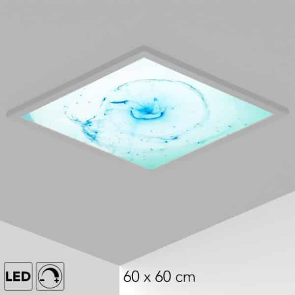 Plafonnier bleu filament