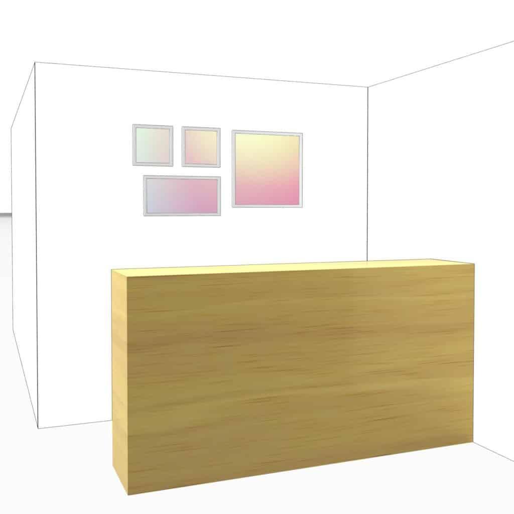 Panneau LED décoratif simulation 3D