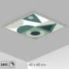 Plafonnier forme géométrique