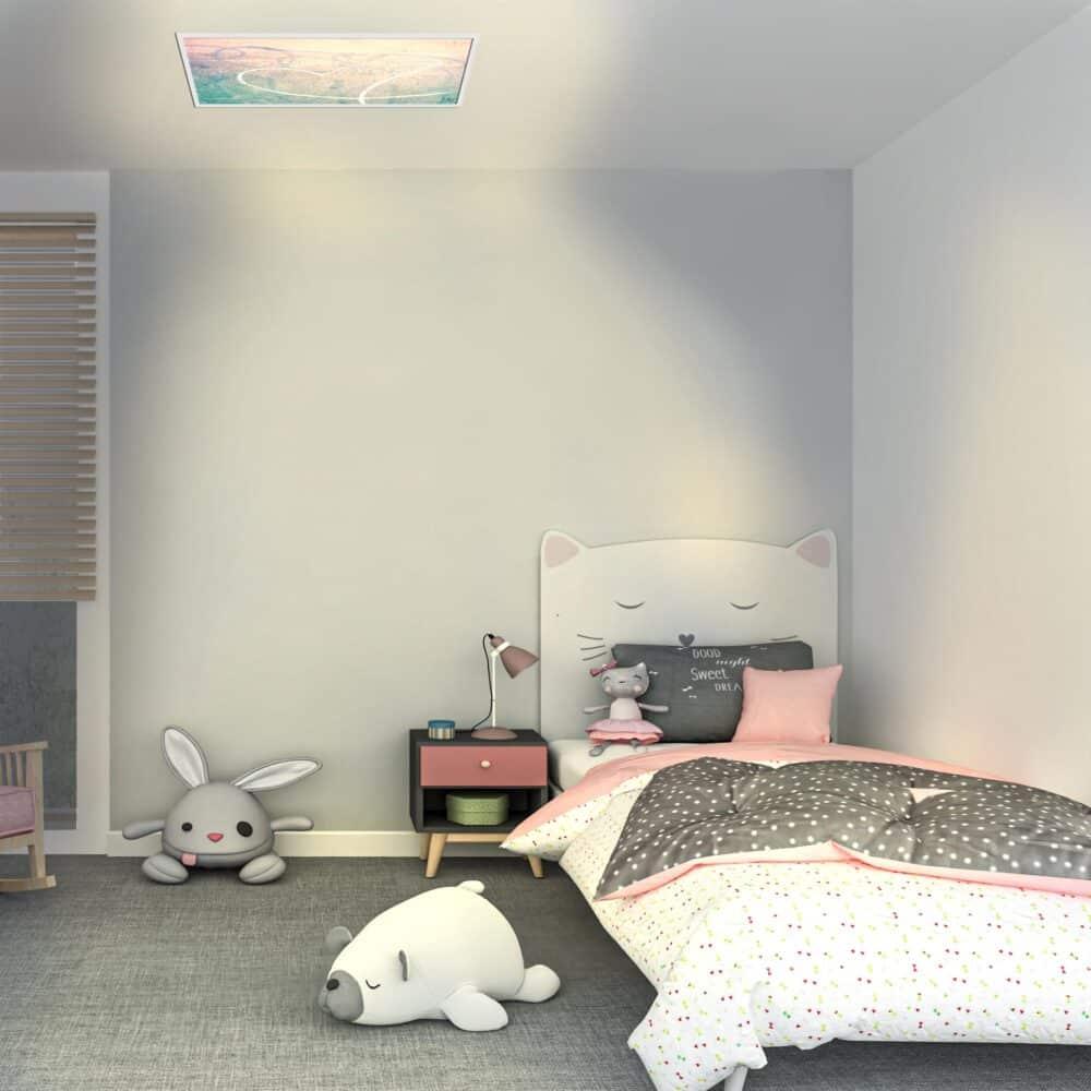 Luminaire personnalisable enfant allumé