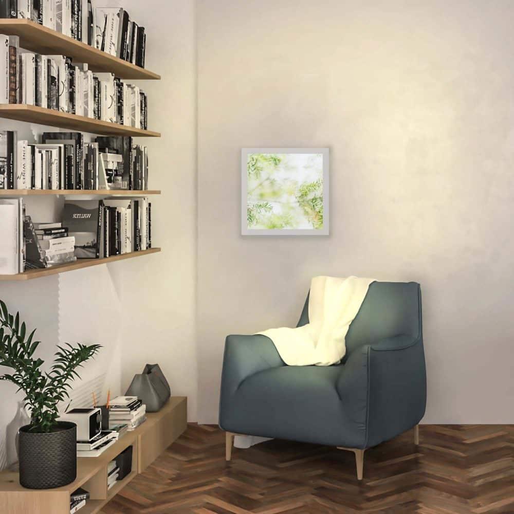 applique murale bambou allumée
