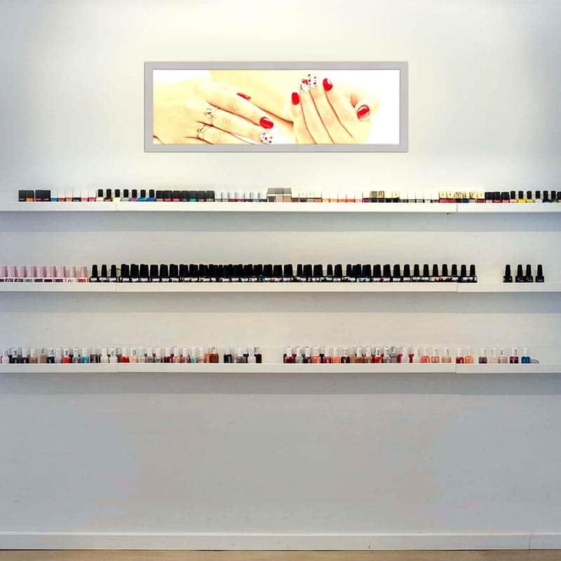 Panneau LED mural espace de vente