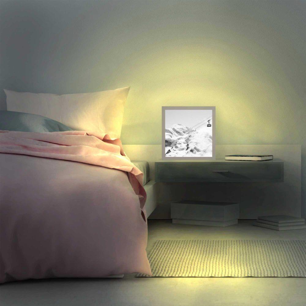 Lampe mont-blanc allumée