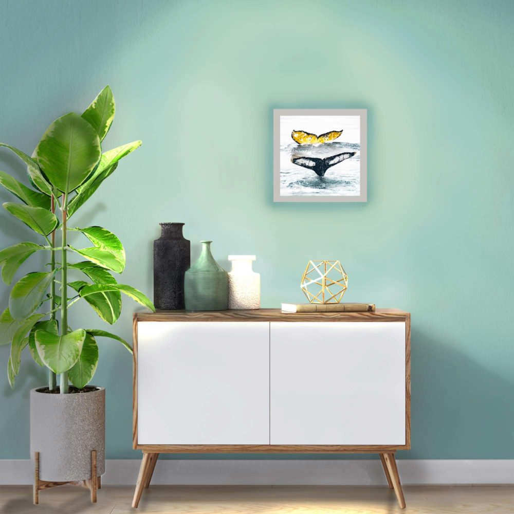 applique murale baleines allumée