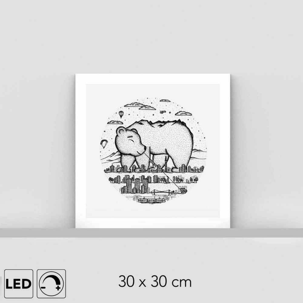 Lampe ours brun