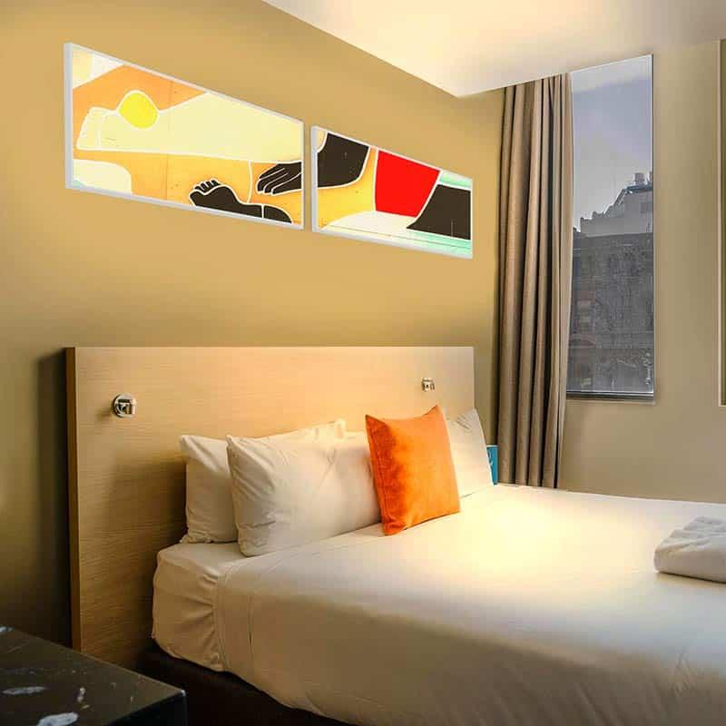 Panneau lumineux LED chambre hotel