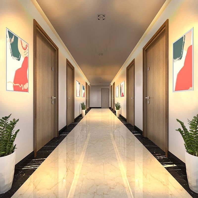 Panneau lumineux LED couloir