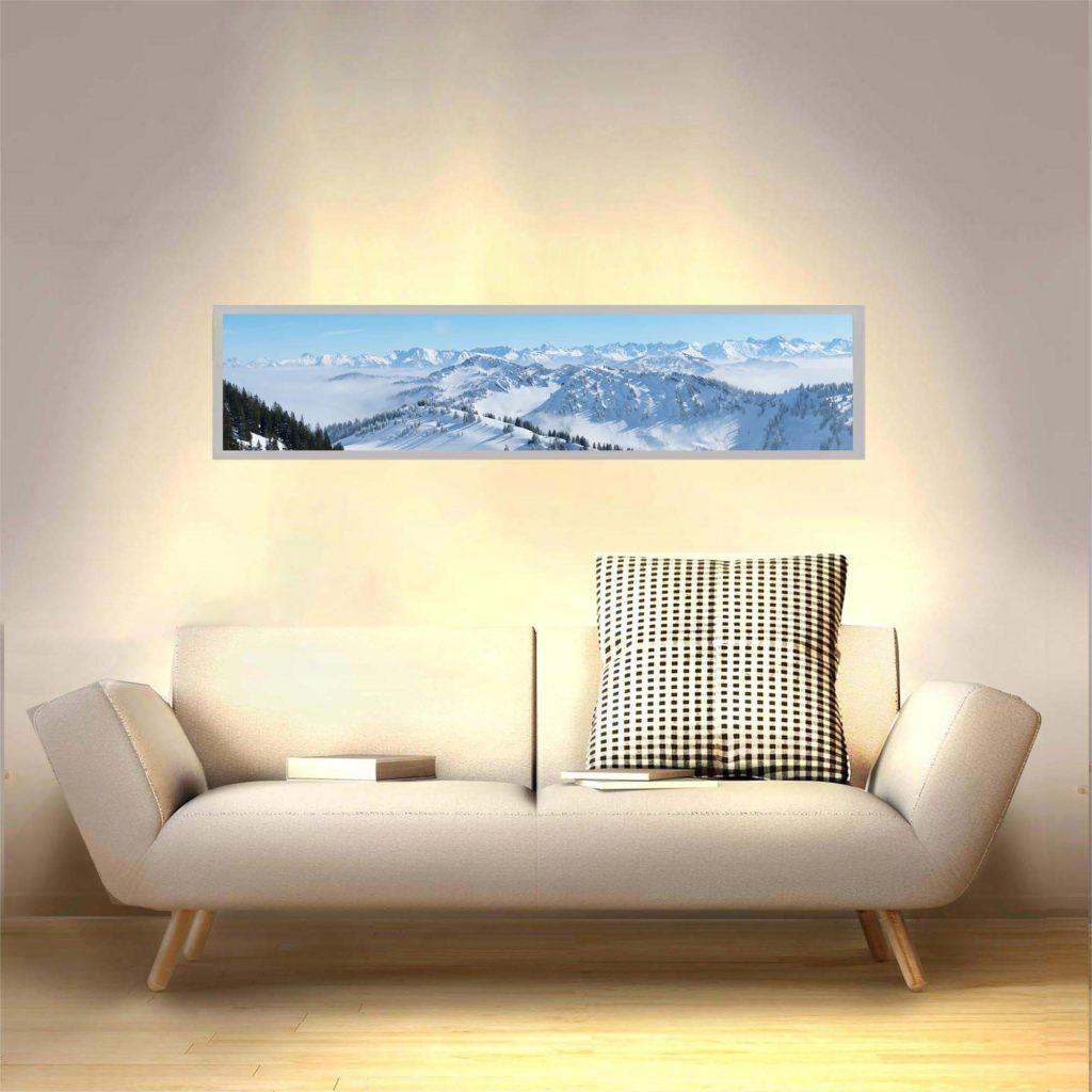 Applique murale chaine de montagnes allumée
